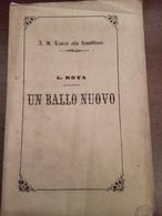 Libretto D'opera Un Ballo Nuovo Milano 1856 Pagine 20 - Documentos Históricos