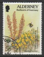 Alderney 1994 -1995 Flora And Fauna 5 P  Multicoloured SW 69 O Used - Alderney