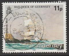 Alderney 1997 Historical Development Of Alderney 11 P  Multicoloured SW 32 O Used - Alderney