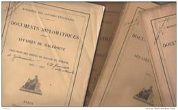 MACEDOINE , Documents Diplomatiques - Affaires Macédoine 1902 ( 62 P ) 1903 (16 P ) 1903-05 ( 228 P)1906-07 ( 123 P ) - Livres, BD, Revues
