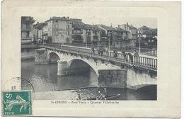 09 ARIEGE - SAINT-GIRONS  -PONT VIEUX, QUARTIER VILLEFRANCHE - CPA Luxe 1910 - Saint Girons