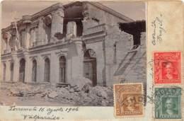 Chili - Valparaiso - Oblitérations / 34 - Photo Card - Terremoto - Défaut - Chili