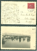Yugoslavia 1936 Ambulance Bahnpost Railway Mail Post Split - Zagreb 31 C Letter Postcard Of Split - 1945-1992 Socialist Federal Republic Of Yugoslavia