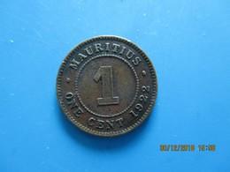 ÎLE MAURICE 1 Cent Georges V 1922, TTB - Mauritius