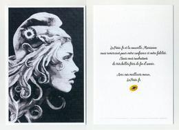 Voeux 2018 La Poste - Nouvelle Marianne - Carton Publicitaire Format Carte Postale Et Papier Style Ex-libris - Publicités