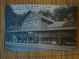 Elsfleth Wesermarsch, Bahnhof, Gelaufen 1916 - Elsfleth