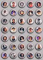 35 X WHITNEY HOUSTON Music Fan ART BADGE BUTTON PIN SET 3 (1inch/25mm Diameter) - Music