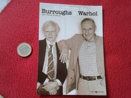 SPAIN POSTAL POSTCARD POST CARD CARTE POSTALE EL AFFAIRE DE BURROUGHS Y WARHOL POR VICTOR BOCKRIS LIBROS CRUDOS ANDY VER - Pintura & Cuadros