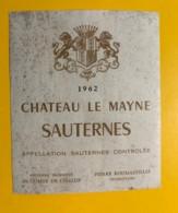 9437 - Château Le Mayne 1962 Sauternes - Bordeaux