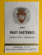 9439 - Haut-Sauternes 1967 - Bordeaux