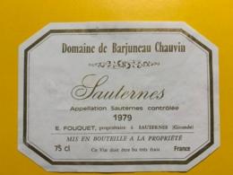9438 - Domaine De Barjuneau Chauvin 1979 Sauternes - Bordeaux