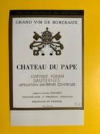 9441 - Château Du Pape Sauternes Contigu Yquem - Bordeaux