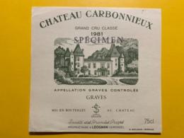 9447 - Château Carbonnieux 1981 Graves Spécimen - Bordeaux