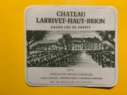 9448 - Château Larrivet-Haut-Brion 1974 Graves - Bordeaux