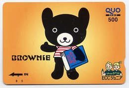 Nounours Bear  Teddy Jeu Peluche Carte Prépayée Japon Card Karten  (G 682) - Games