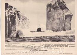 DISLOCATION D UN ICEBERG  / 24X30 CM - Lieux