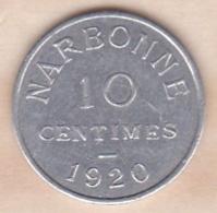 Aude – 11. Chambre De Commerce  10 Centimes  1920 . Narbonne - Monétaires / De Nécessité