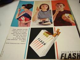 ANCIENNE PUBLICITE CIGARETTE FLASH VOICI L HEURE  1964 - Tabac (objets Liés)