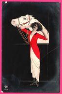 Montage - Cheval - Femme - EAS - 1915 - Oblit. STENDAL * 2 C - Vrouwen