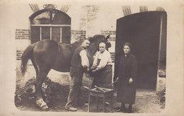 CARTE PHOTO  Marechal Ferrant Forge Forgeron  Fer A Cheval - Cartes Postales