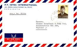 INDONESIE. N°708 De 1974 Sur Enveloppe Ayant Circulé. Président Suharto. - Indonesien