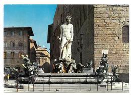Toscana Firenze Piazza Della Signoria Fontana Del Nettuno Viaggiata 1968 Condizioni Come Da Scansione - Firenze (Florence)