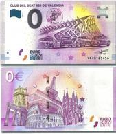 "¡Nuevo! PREVENTA 2019 Billete 0 Euro Souvenir ""CLUB SEAT 600 DE VALENCIA"" - EURO"