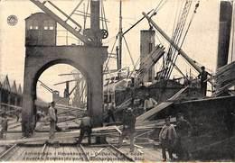 Antwerpen - Havenbedrijf - Ontlading Van Hout (animatie, Kaserne Feldpost 1918) - Antwerpen