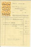 PARIS JEAN LUCE ARTISTE DECORATEUR CERAMISTE VERRIER ANNEE 1939 FACTURE A MME BUXTORF SAINT BENOIT SUR VANNES - Francia