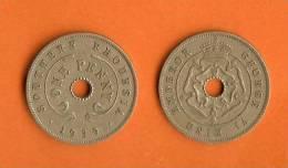 RHODESIA 1937-1939 1 Penny Copper Nickel KM8 - Rhodésie