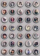 35 X KATE BUSH Music Fan ART BADGE BUTTON PIN SET 5 (1inch/25mm Diameter) - Music