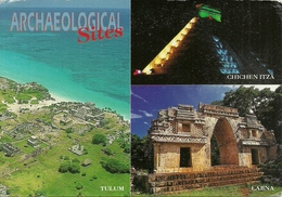 "Archaeological Sites (Mexico) View Of Tulum, Labna And Chichen Itza, Thematic Stamp ""XV Maraton Intern Ciudad De Mexico"" - Messico"