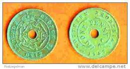SOUTH RHODESIA 1943-47 Coin 1 P Bronze KM8a C176 - Rhodésie