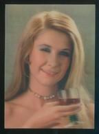 Postal Efecto 3D. *Winking Girl* Circulada 1-2-1972, Matasellos München 1972. - Estereoscópicas