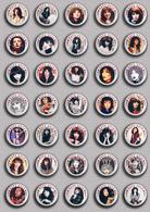 35 X KATE BUSH Music Fan ART BADGE BUTTON PIN SET 8 (1inch/25mm Diameter) - Music