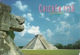 """Chichen Itza (Mexico) View Of Chichen Itza Pyramid From The Tiger Head, Them. Stamp """"XIV Maraton Int Ciudad De Mexico"""" - Messico"""