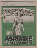 "Protège Cahier - ASPIRINE - ""Usines Du RHONE "" - Book Covers"