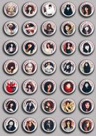 35 X KATE BUSH Music Fan ART BADGE BUTTON PIN SET 10 (1inch/25mm Diameter) - Music