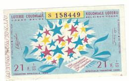 Loterie Coloniale / Koloniale Loterij 1/10  21fr. 25e Tranche 1959 / 25ste Snede 1959 - Billets De Loterie