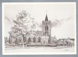 NL.- ZEIST. De Oude Kerk. Tekening Marius Jansen - Schone Kunsten