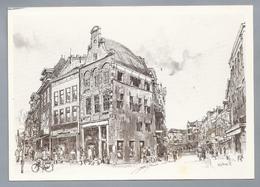 NL.- ZWOLLE. Diezerpromenade En Oude Vismarkt. Tekening Marius Jansen - Schone Kunsten