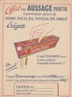 """Protège Cahier - POIVROSSAGE- """"Offert Par AUSSAGE Pantin  """" - Book Covers"""