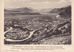 GRENOBLE ET LA VALLEE DU GRESIVAUDAN / PAS CP / 24X30 CM - Grenoble