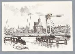 NL.- ZWOLLE. Pelserbrug En Pelsertoren. Tekening Marius Jansen - Schone Kunsten