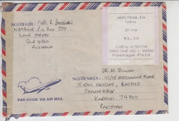 Australia  Airmail Cover To Pakistan, Stamps Meter    (A-809) - 1980-89 Elizabeth II