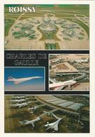 """Carte Postale """"Concorde"""" Et """"Aéroport Charles De Gaulle - Vliegvelden"""