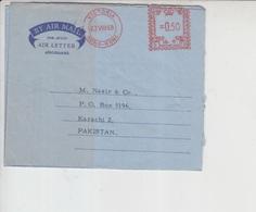 Hong Kong Airmail Cover To Pakistan, Stamps Aerogram    (A-810) - Hong Kong (1997-...)