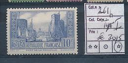FRANCE YVERT 261b TYPE I LH - Unused Stamps
