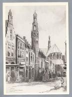 NL.- ALKMAAR En Grote Of St. Laurenskerk. Tekening Marius Jansen - Schone Kunsten