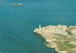 La Habana (Cuba) Vista Aerea Del Morro Y Fortaleza De San Carlos De La Cabana, Aerial View, Vue Aerienne - Cuba